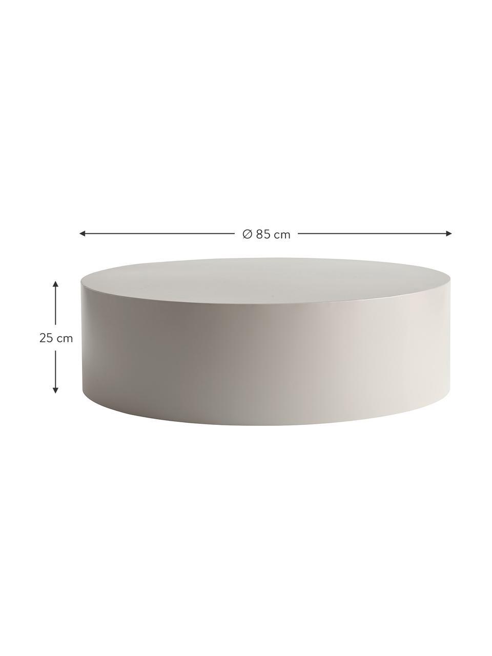 Table basse ronde Metdrum, Gris