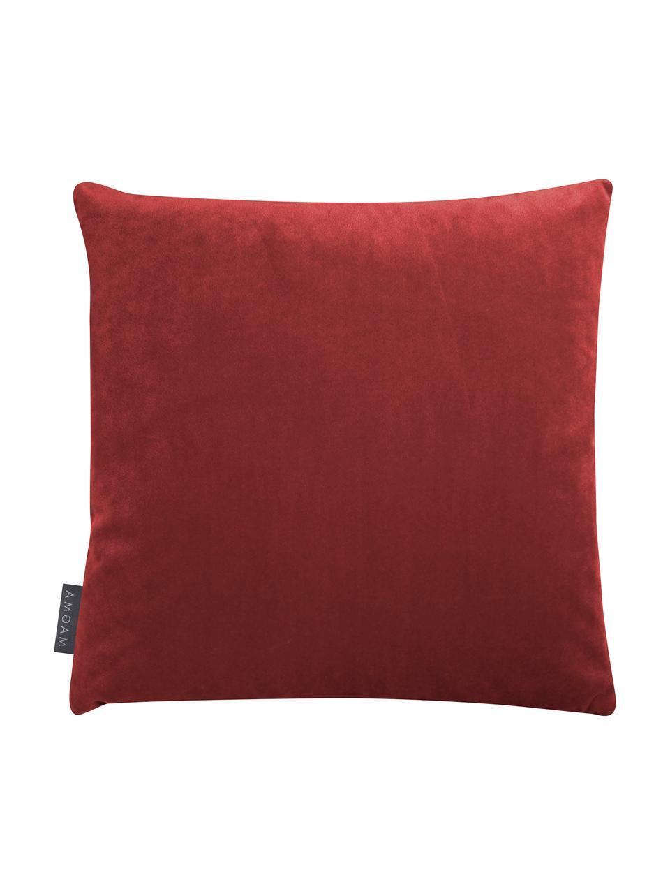 Federa arredo  reversibile Abigail, Retro: velluto di poliestere, Rosa, rosso ruggine, Larg. 40 x Lung. 40 cm