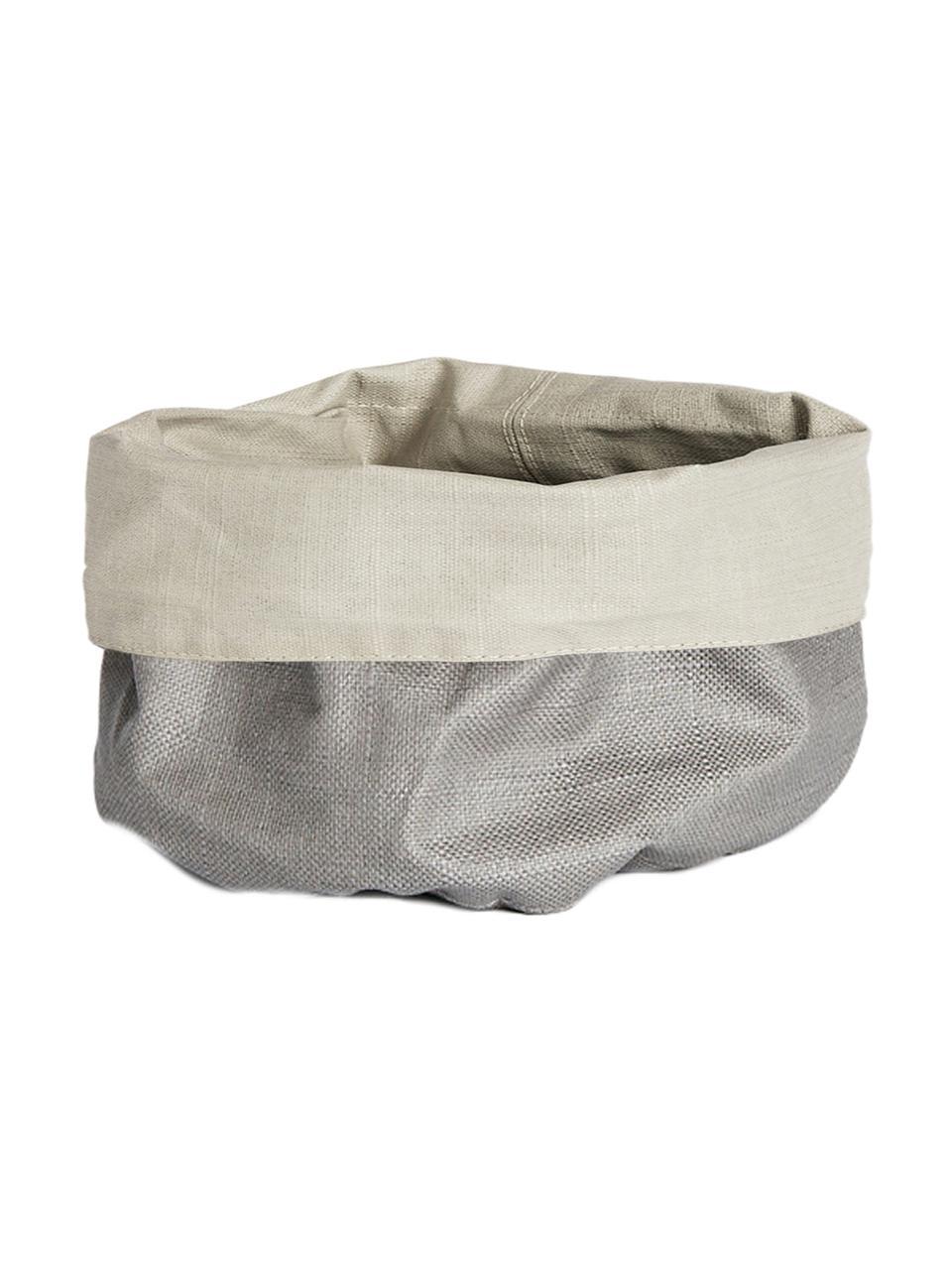 Corbeille à pain XS en gris et beige Patinn, Beige, gris clair
