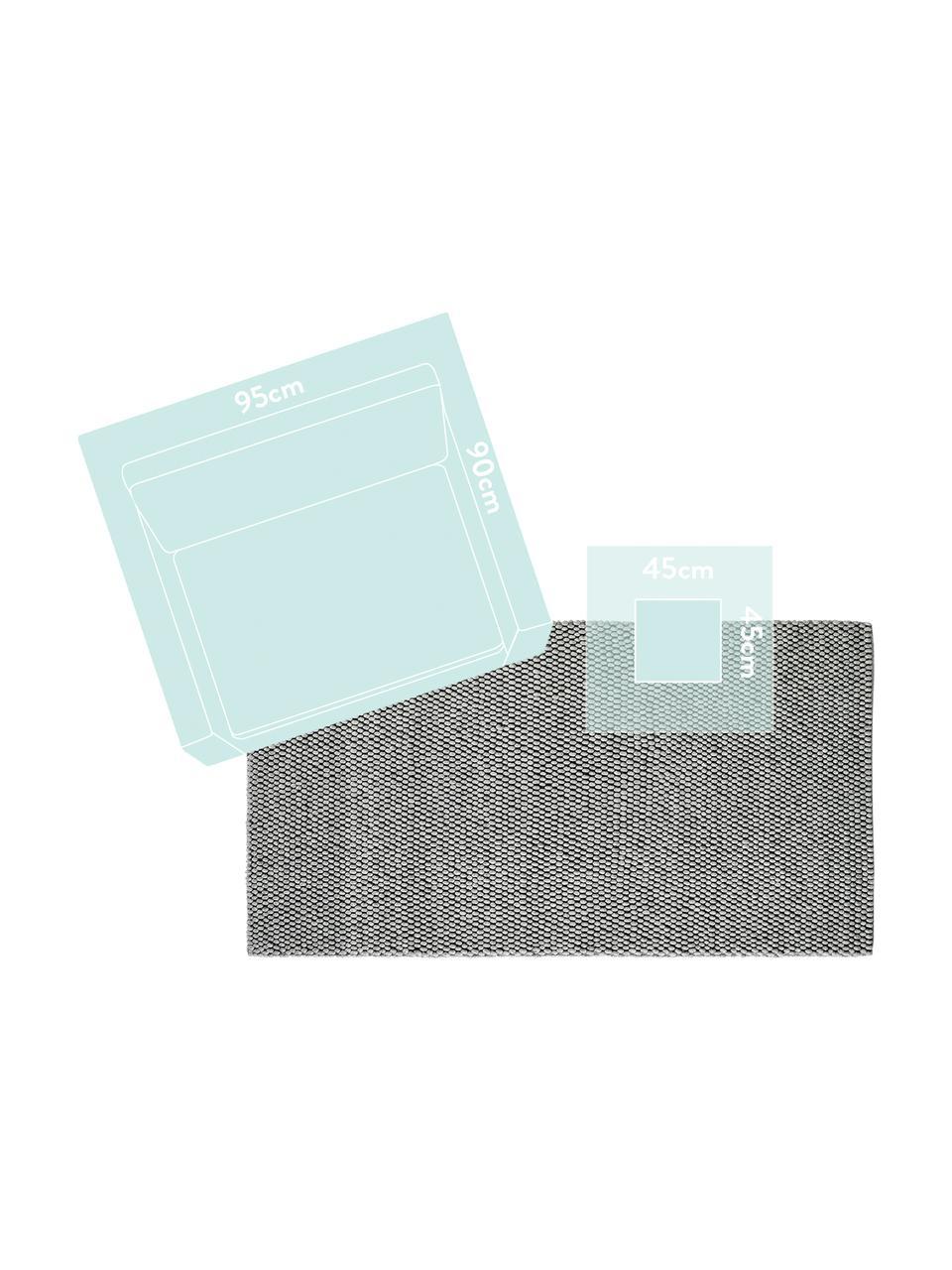 Ręcznie szyty dywan z wełny My Loft, Srebrnoszary, S 160 x D 230 cm (Rozmiar M)