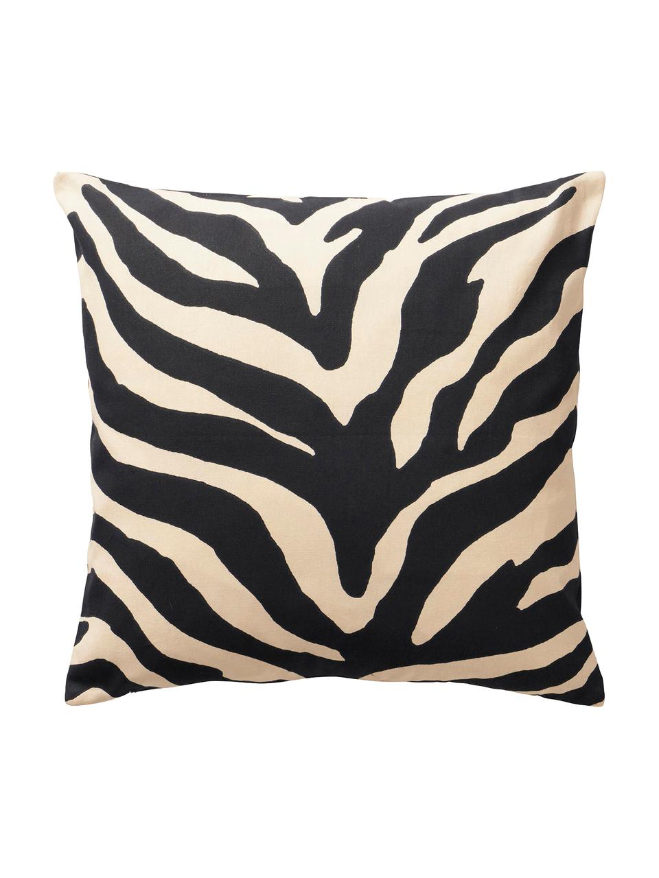Komplet poszewek na poduszkę Animals, 2 elem., Bawełna, Czarny, beżowy, S 45 x D 45 cm