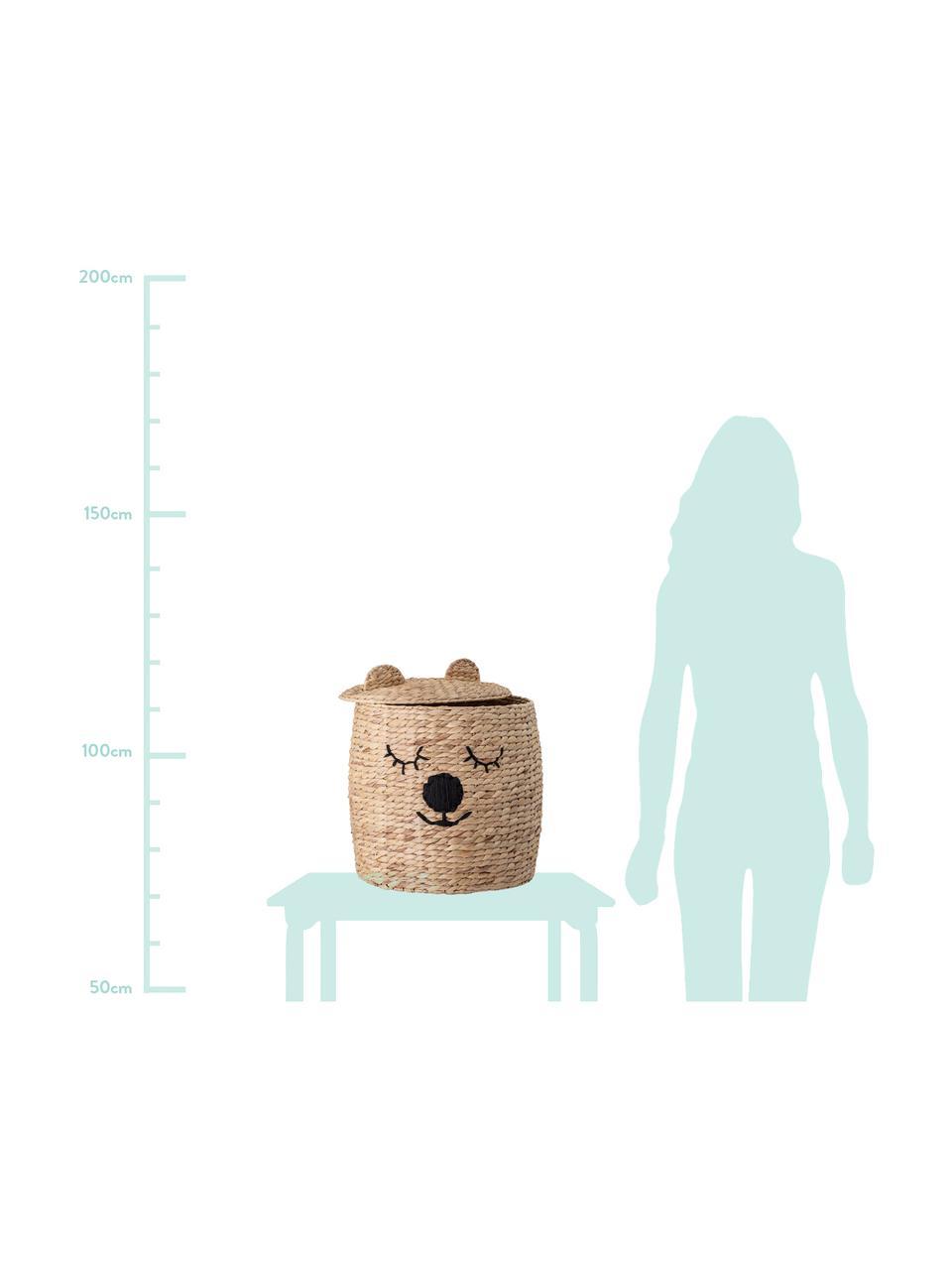 Opbergmand Bear, Waterhyacint, Lichtbruin, Ø 42 x H 50 cm