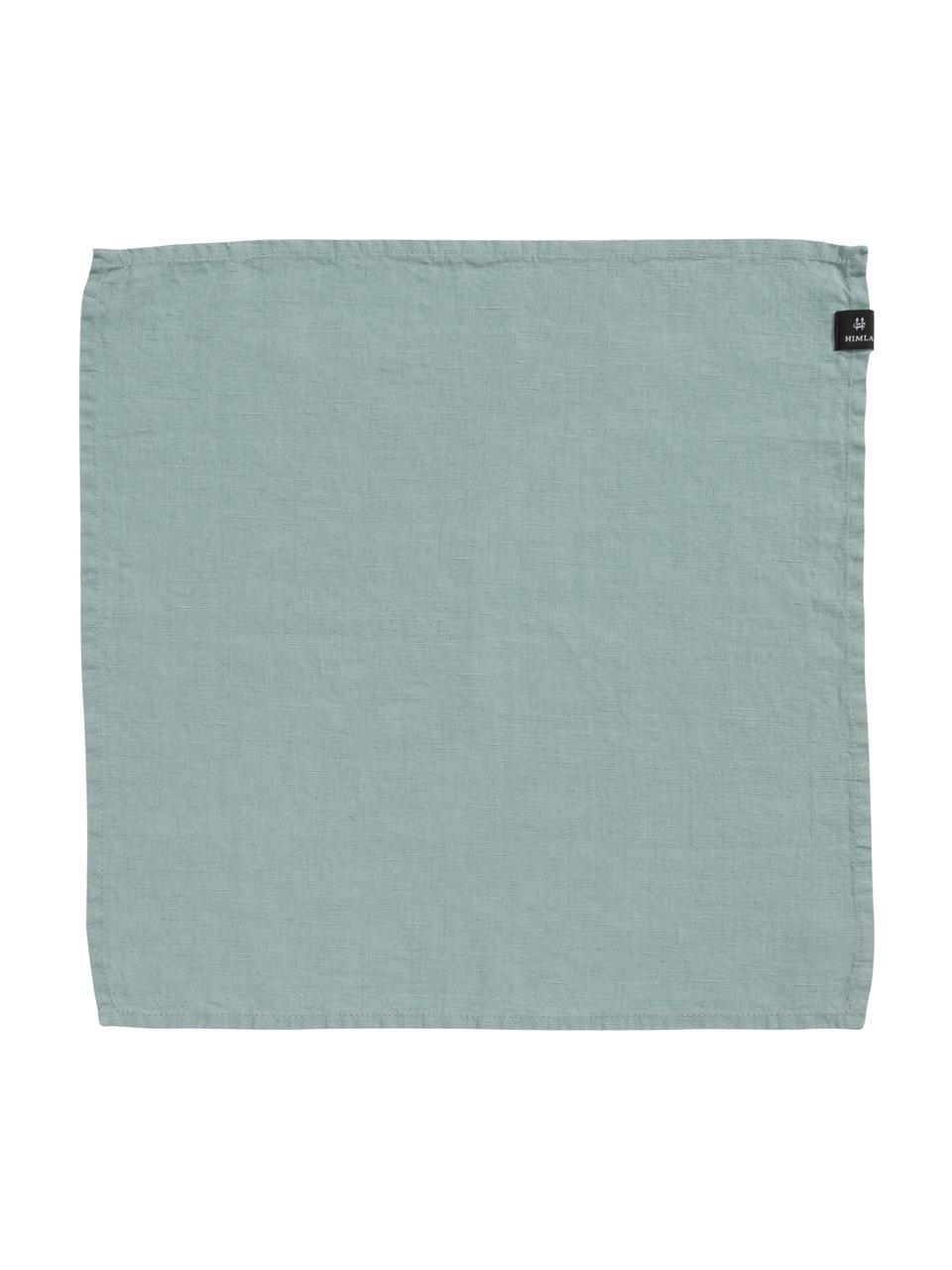 Tovagliolo in lino Sunshine 4 pz, Lino, Blu verde chiaro, Larg. 45 x Lung. 45 cm
