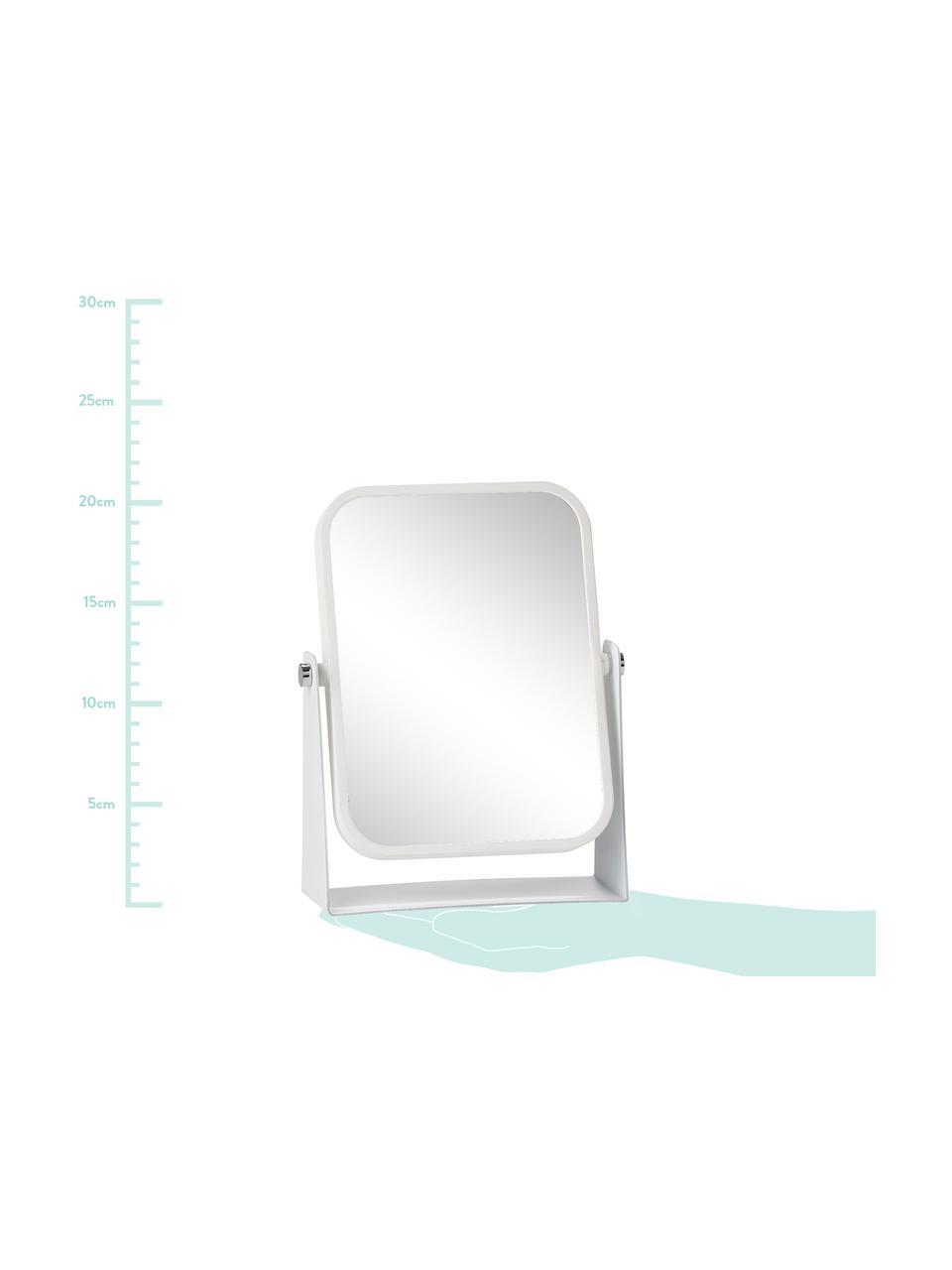 Kosmetické zrcadlo Aurora se zvětšením, Rám: bílá Plocha zrcadla: zrcadlo