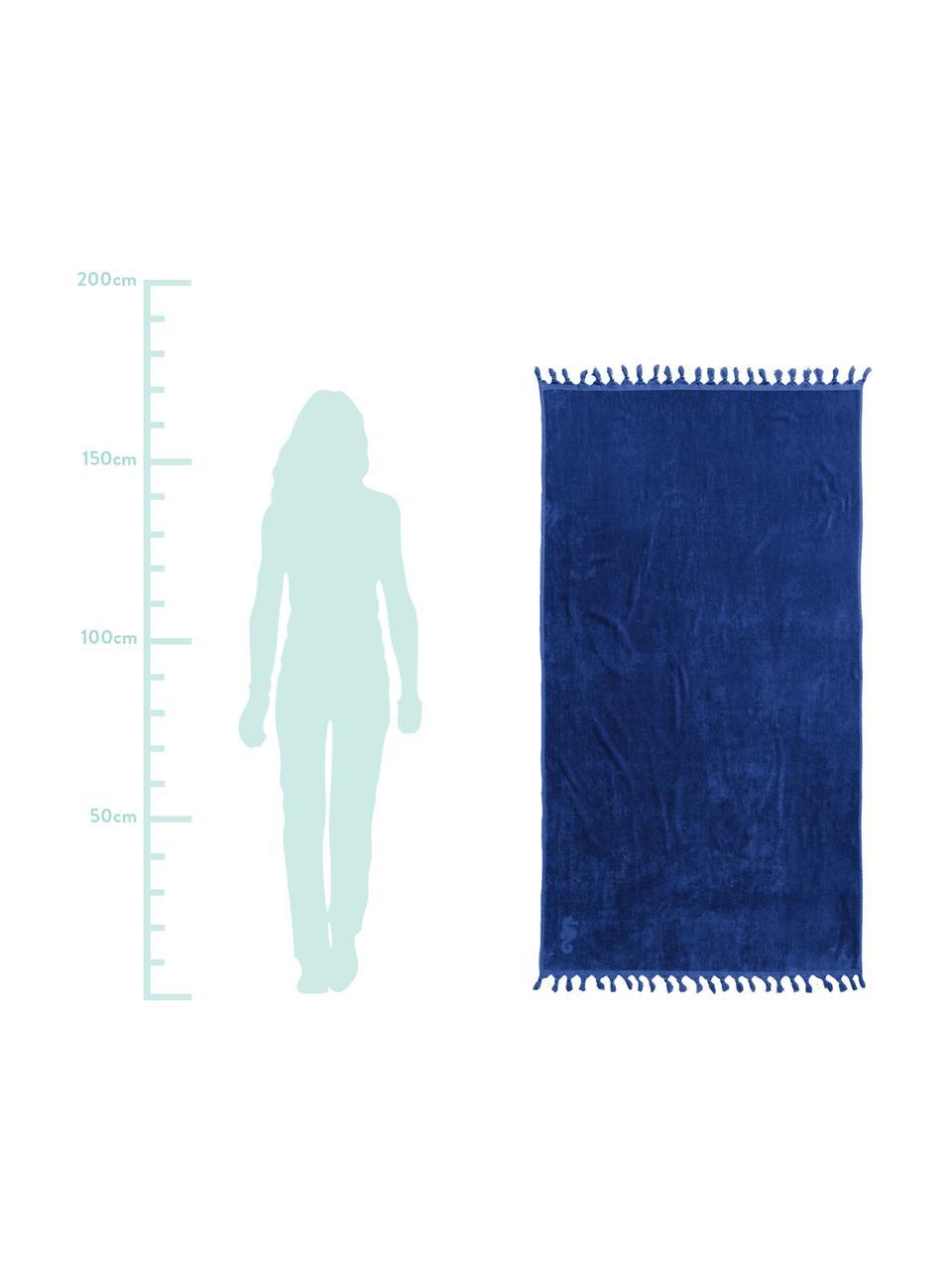 Fouta Lushie, Bawełna Średnia gramatura, 355g/m², Ciemnyniebieski, S 100 x D 180 cm