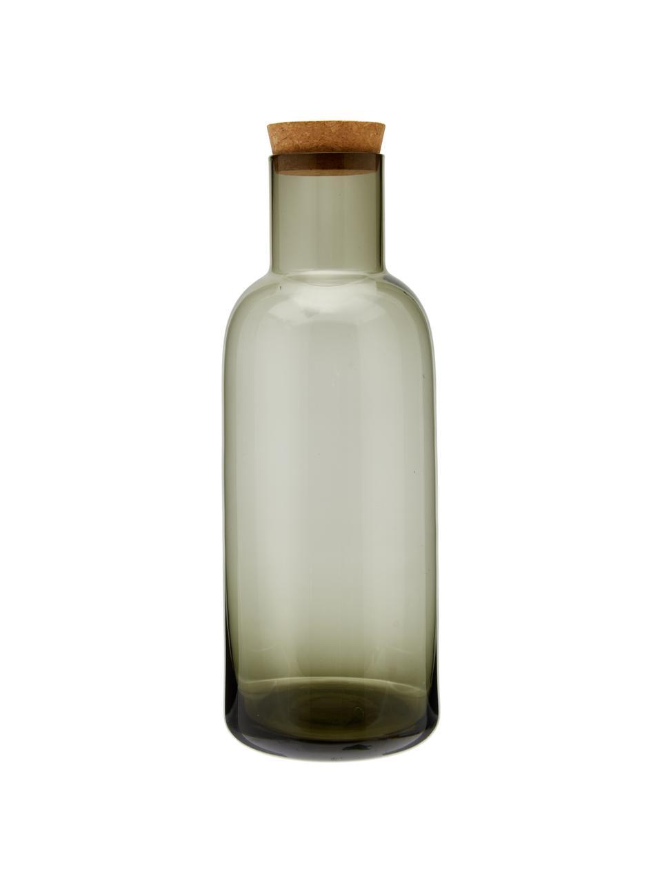 Caraffa grigia trasparente Clearance, Coperchio: sughero, Grigio trasparente, 1 L