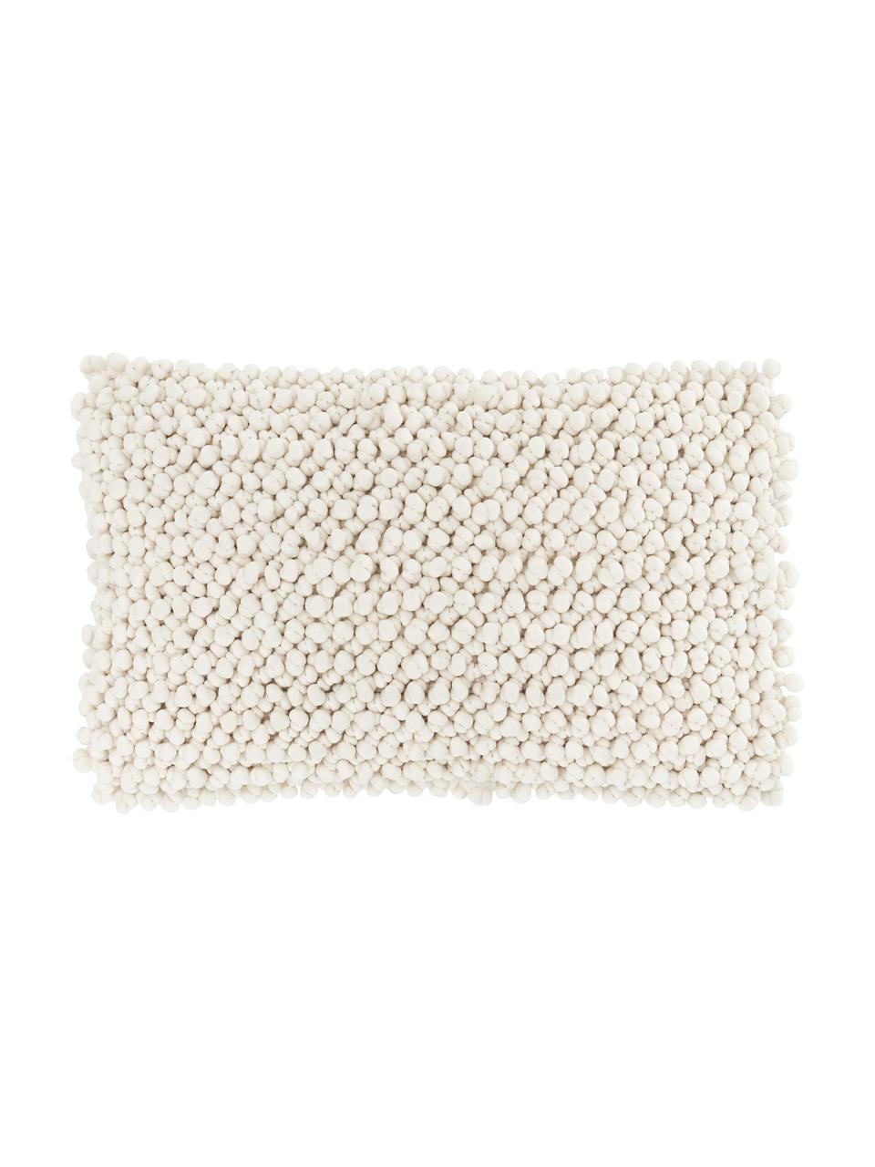 Kissenhülle Iona mit kleinen Stoffkugeln in Cremeweiß, Vorderseite: 76% Polyester, 24% Baumwo, Rückseite: 100% Baumwolle, Beige, 30 x 50 cm