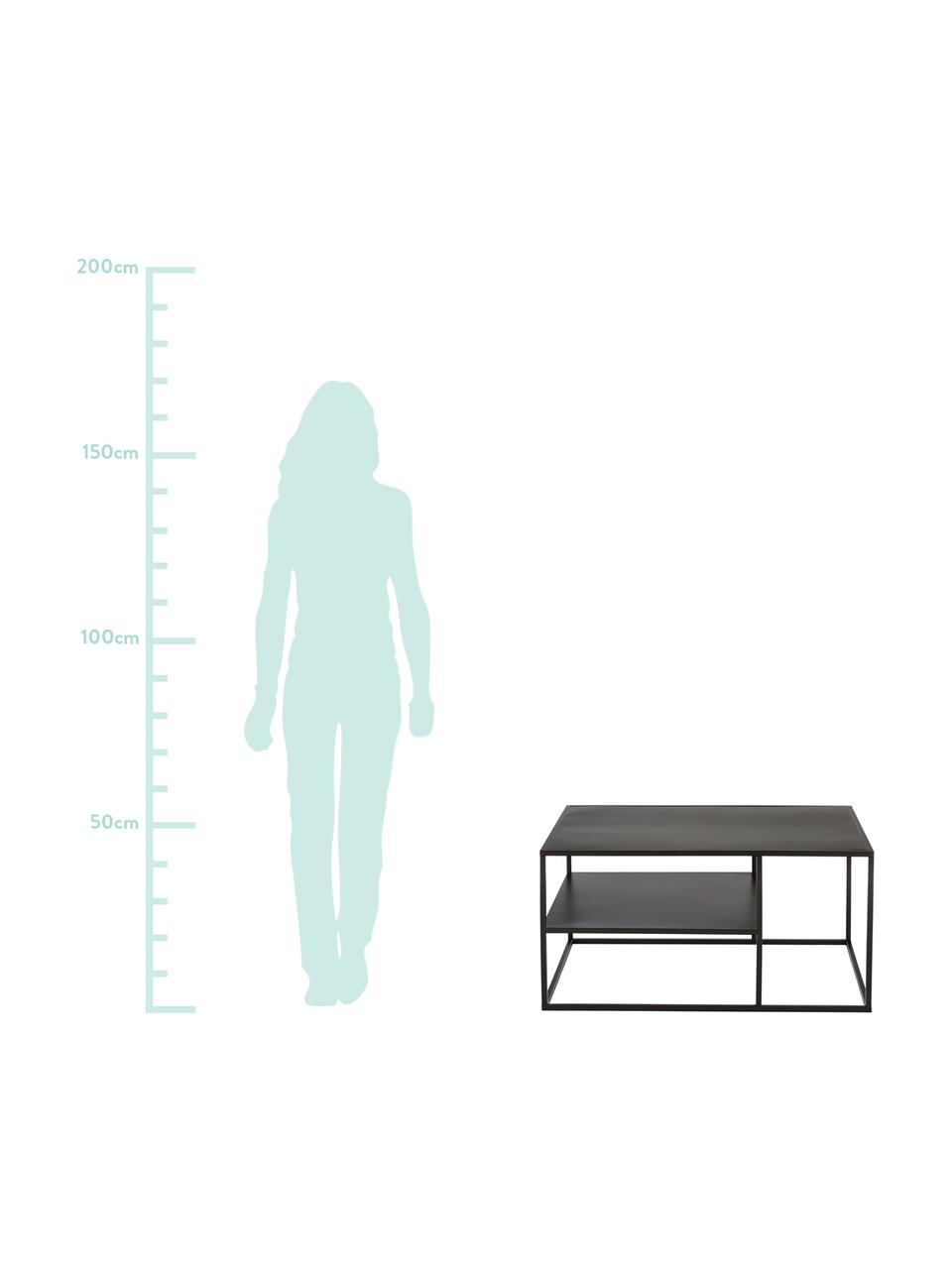 Table basse en métal Newton, Noir