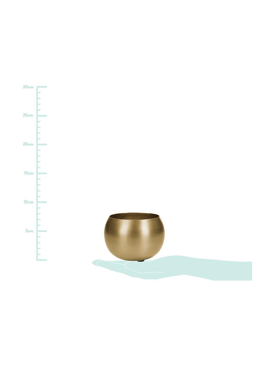 Kleiner Übertopf Pat aus Metall, Metall, beschichtet, Messingfarben, Ø 10 x H 7 cm