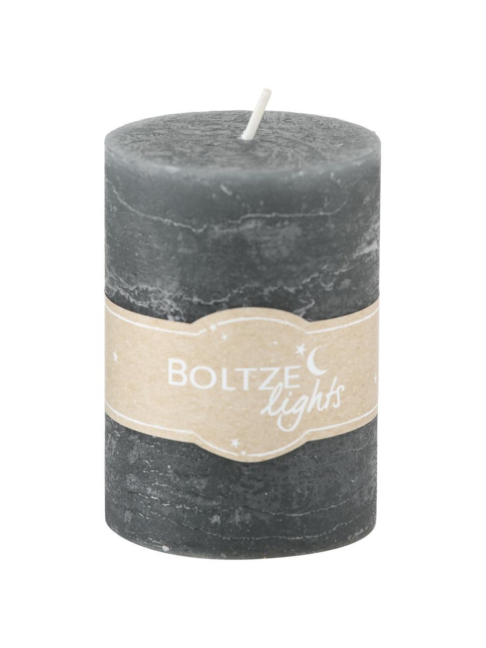 Set di 3 candele Birara, Tonalità grigie, Ø 7 x Alt. 10 cm