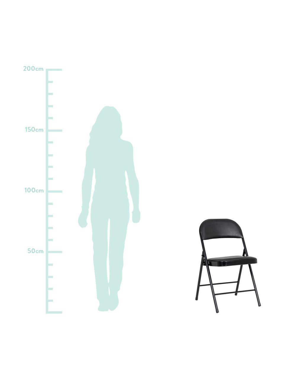 Chaise pliante Felicity, 2pièces, Noir
