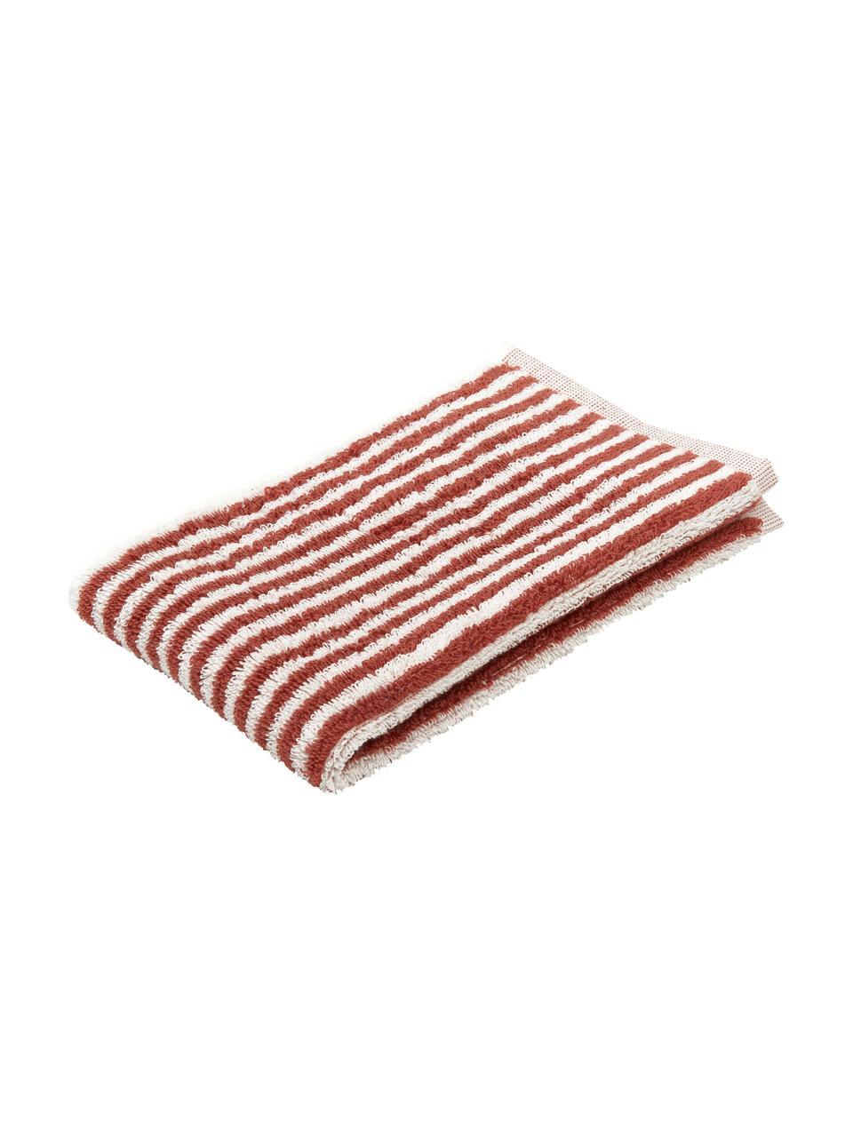 Ręcznik Viola, Terakota, kremowobiały, Ręcznik dla gości