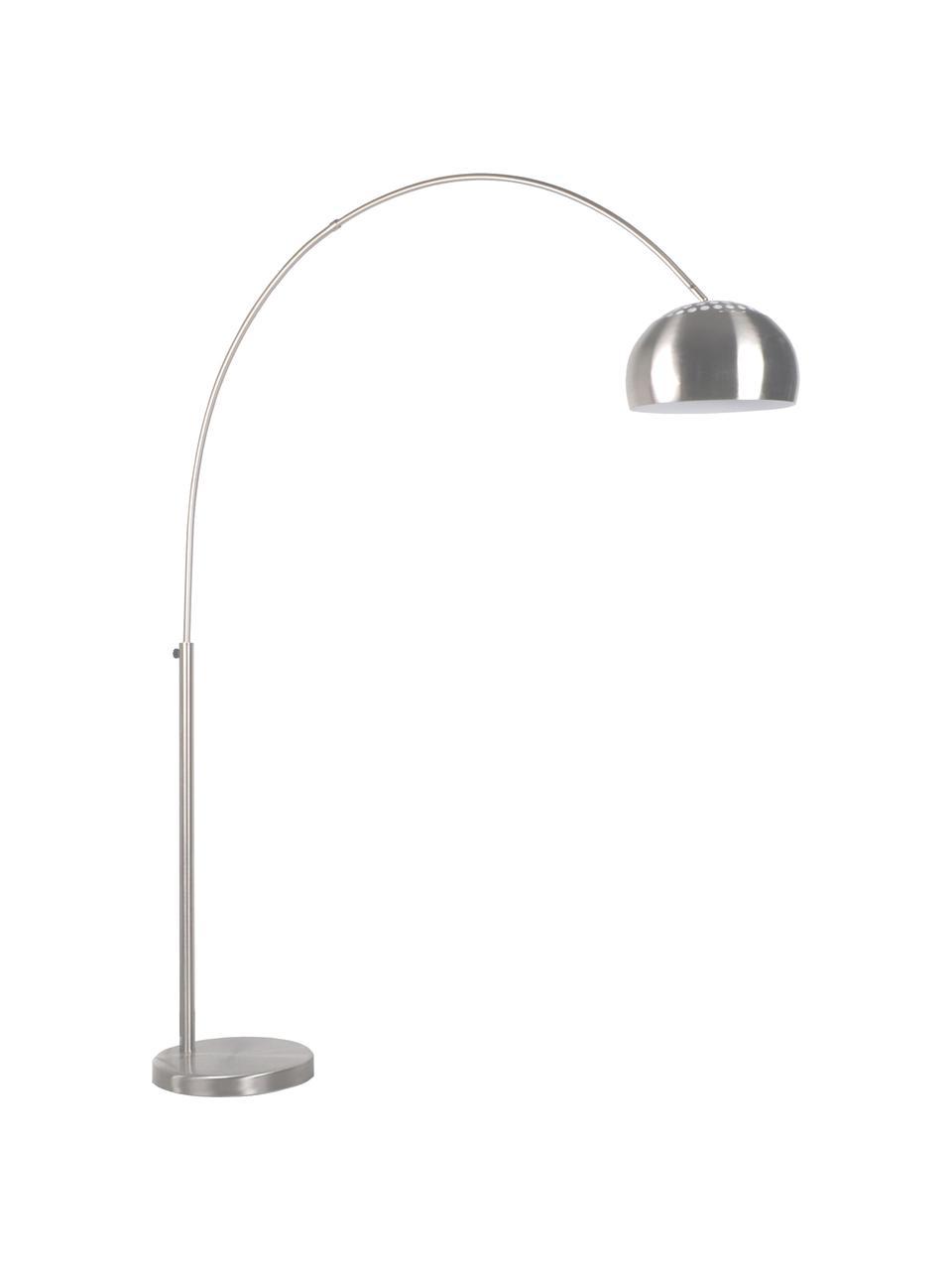 Lampa podłogowa w kształcie łuku Metal Bow, Stelaż: metal szczotkowany, Metal, S 170 x W 205 cm