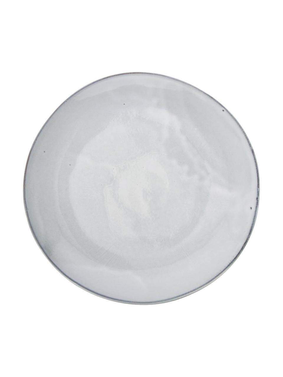 Handgemachte Speiseteller Thalia in Blaugrau, 2 Stück, Steingut, Blaugrau, Ø 27 cm