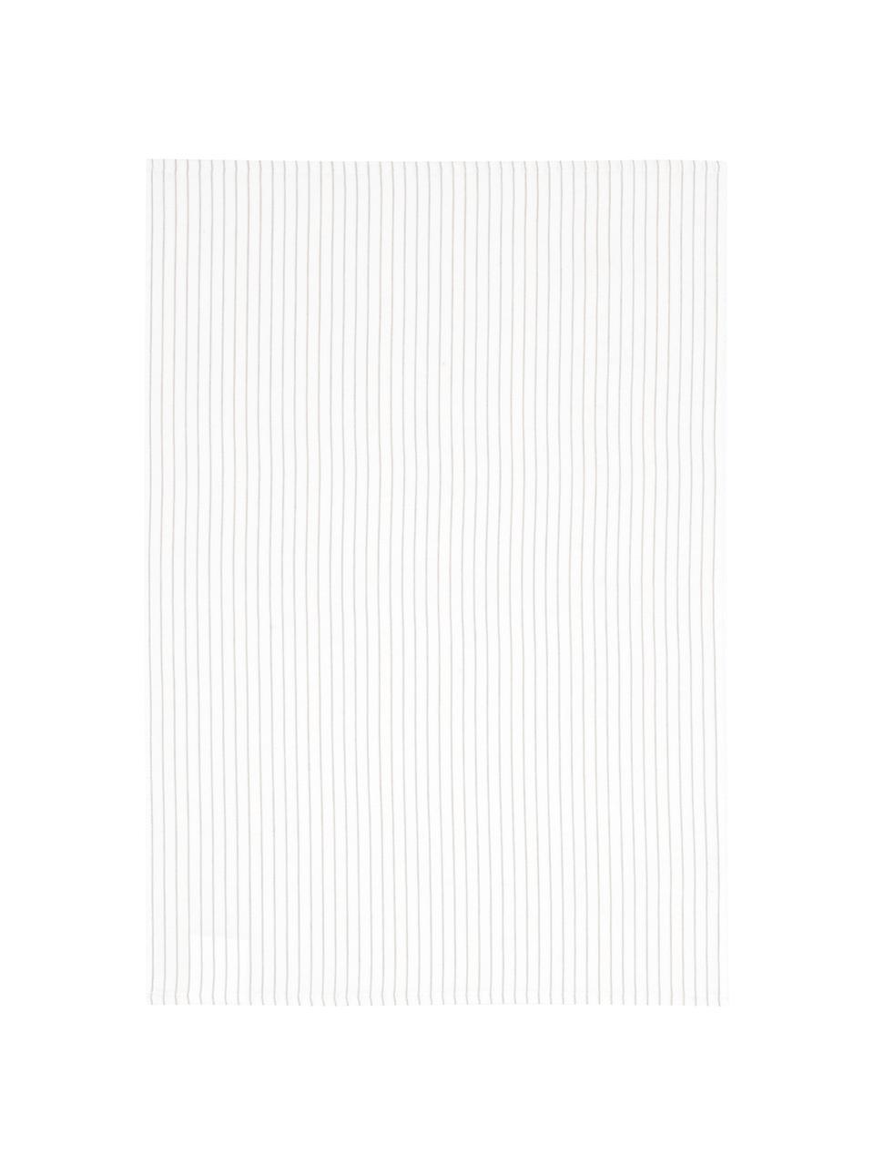 Canovacci Nicole 2 pz, Cotone, Bianco, beige, Larg. 50 x Lung. 70 cm