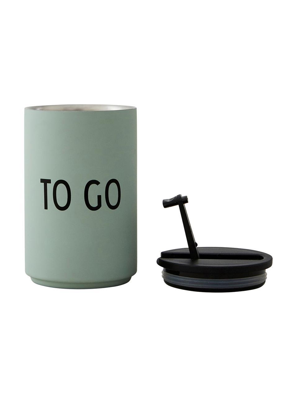 Tazza senza manico multiuso per caffè Favourite TO GO, Acciaio inossidabile rivestito, Verde, Ø 8 x Alt. 13 cm