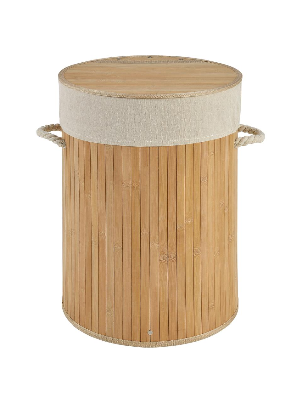 Wasmand Brimsdown, Mand: bamboe, Bruin, Ø 37 x H 50 cm