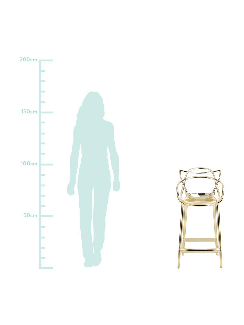 Sedia da bar Masters, Polipropilene, Dorato, L 49 x A 99 cm