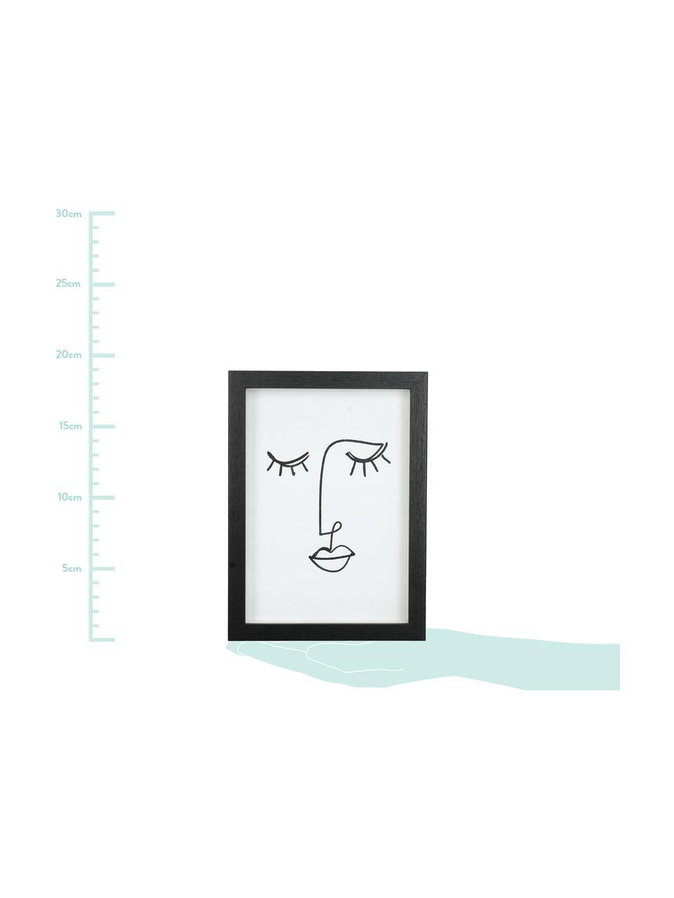 Ramka na zdjęcia Claybank, Drewno naturalne, powlekane, Czarny, 13 x 18 cm