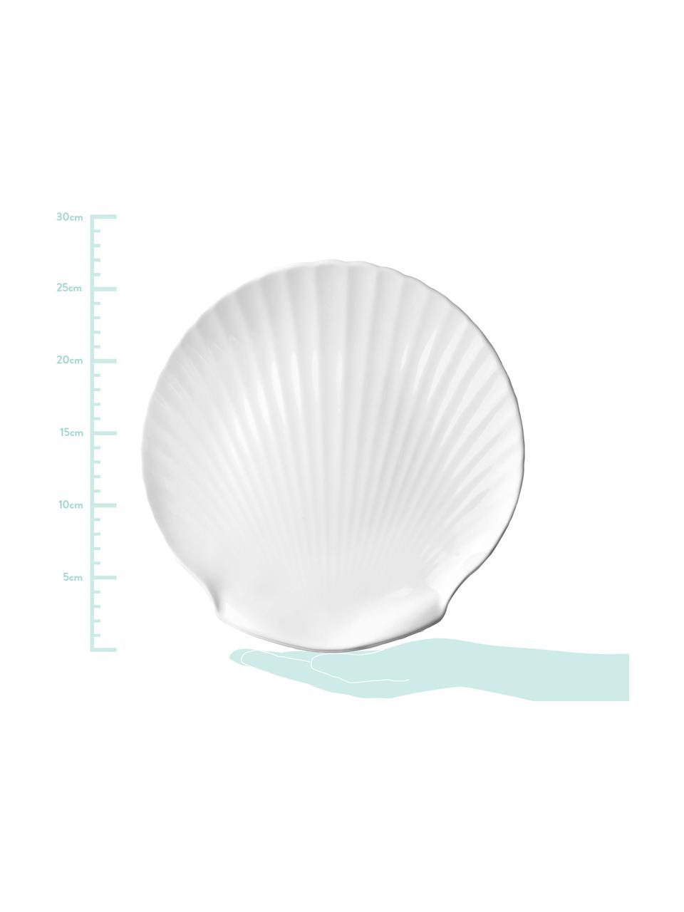 Piatto da portata Fine Bone China Shell, Fine Bone China (porcellana) Fine bone china è una porcellana a pasta morbida particolarmente caratterizzata dalla sua lucentezza radiosa e traslucida, Bianco, Ø 27 cm