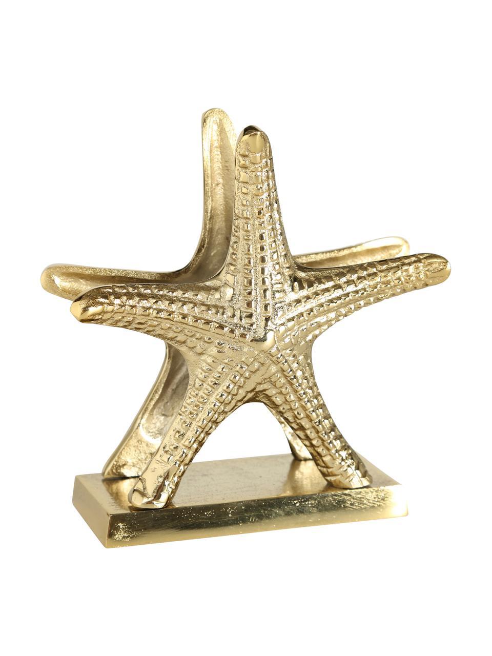 Portatovaglioli a forma di stella Moe, Alluminio, rivestito, Ottone, Larg. 17 x Alt. 17 cm