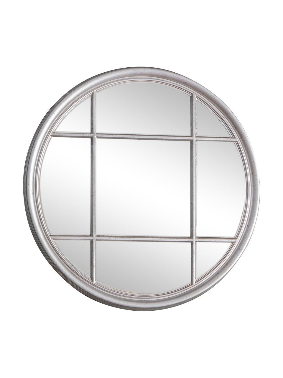 Runder Wandspiegel Eccleston, Rahmen: Holz, lackiert, Spiegelfläche: Spiegelglas, Silberfarben, Ø 100 cm