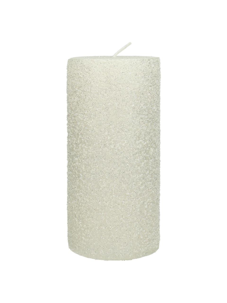 Stumpenkerze Flair, Wachs, Weiß, Ø 7 x H 15 cm