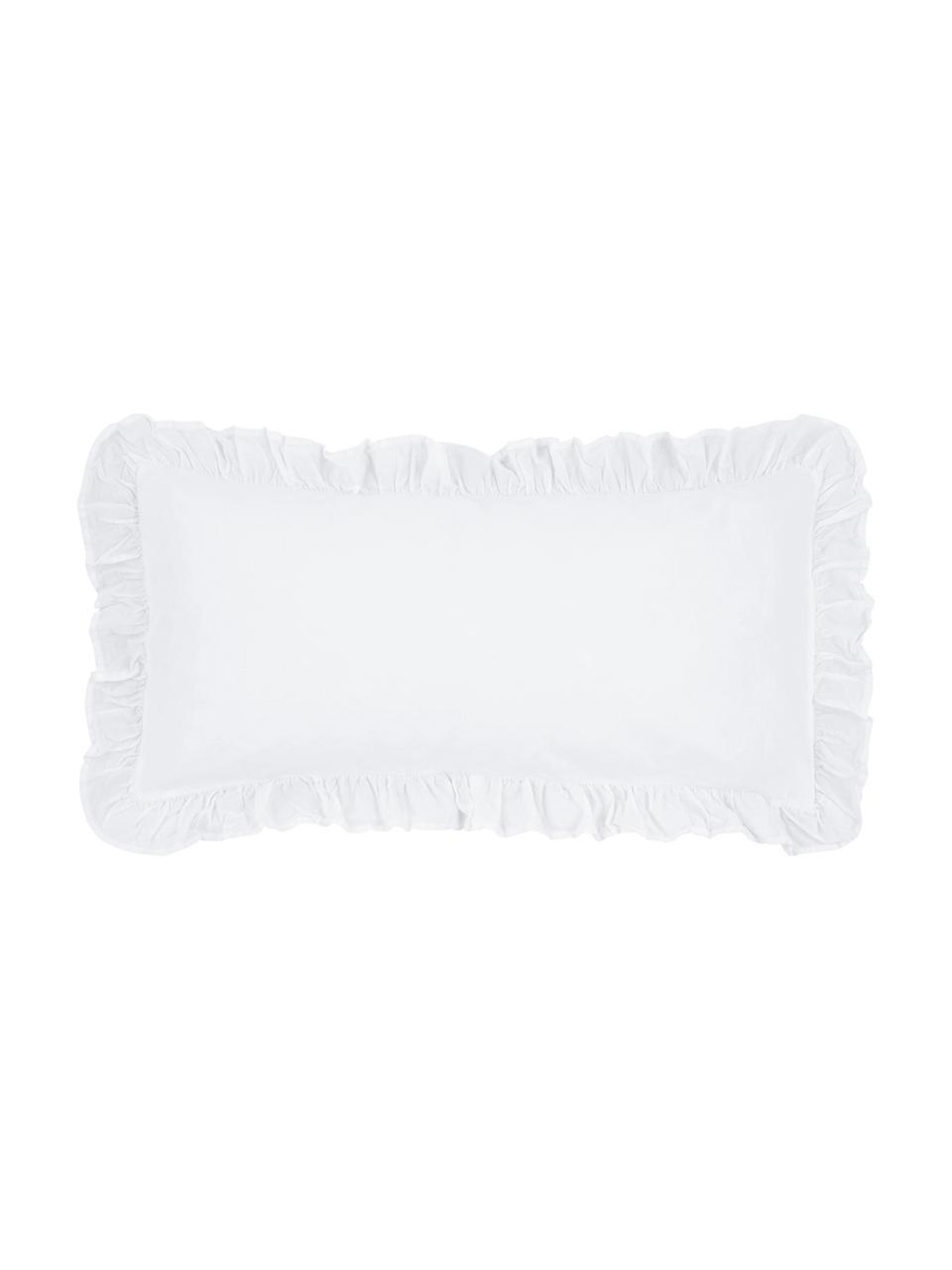 Poszewka na poduszkę z bawełny Florence, 2 szt., Biały, S 40 x D 80 cm