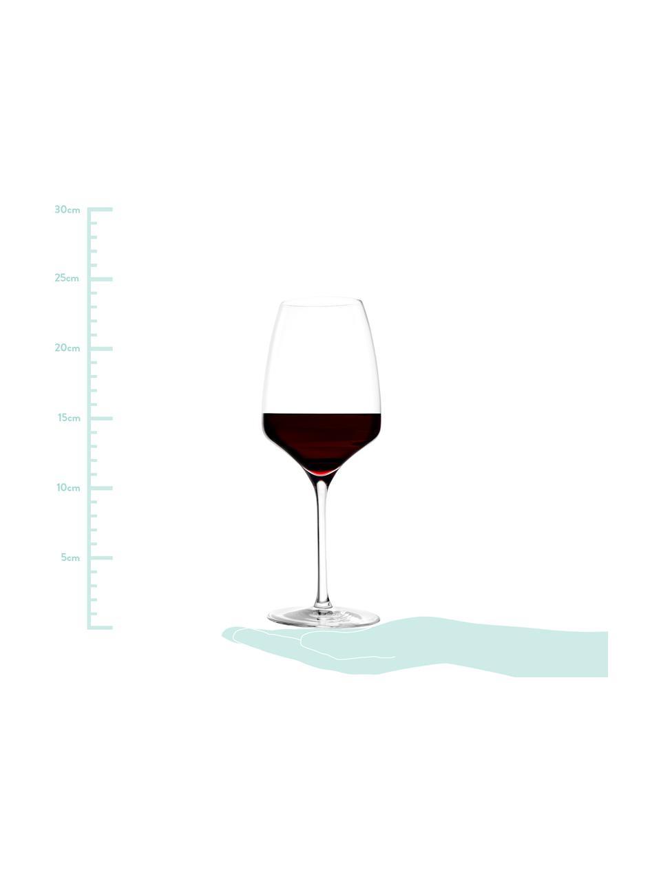 Kryształowy kieliszek do czerwonego wina Experience, 6 szt., Szkło kryształowe, Transparentny, Ø 8 x W 23 cm