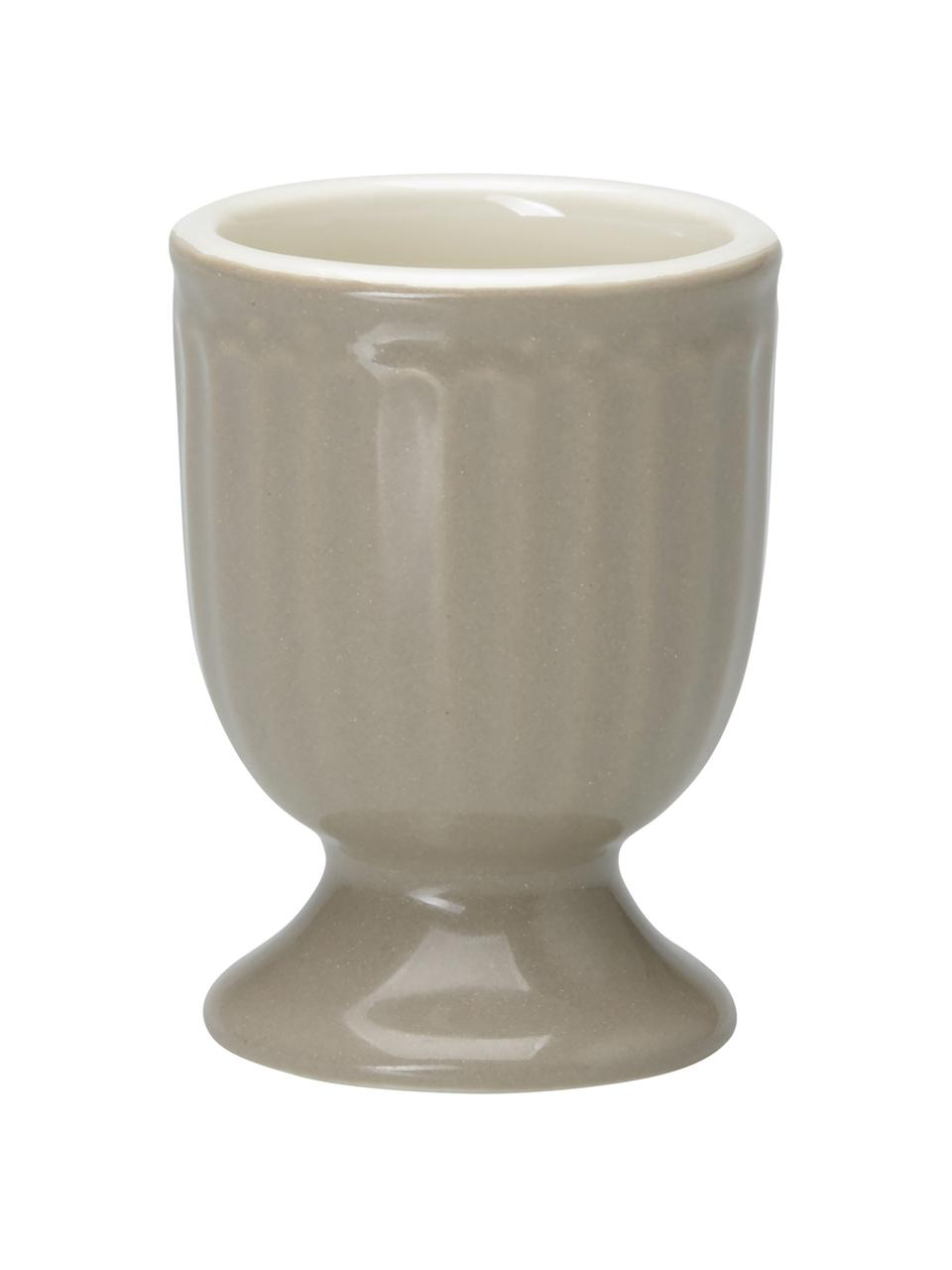 Coquetiers en porcelaine Alice, 2pièces, Gris