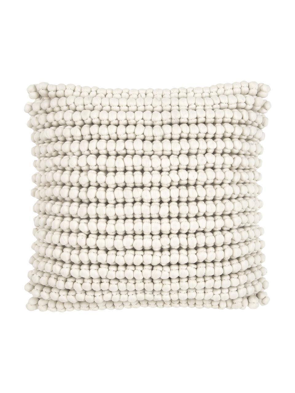 Federa arredo color bianco crema Iona, Retro: cotone, Bianco crema, Larg. 45 x Lung. 45 cm
