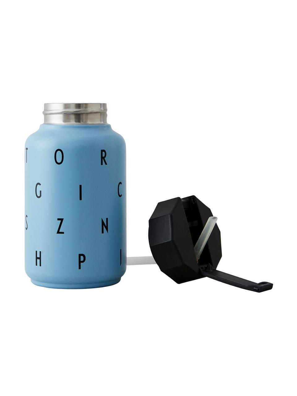 Kinder-Isoliertrinkflasche Ilona mit Trinkhalm, Blau, 330 ml