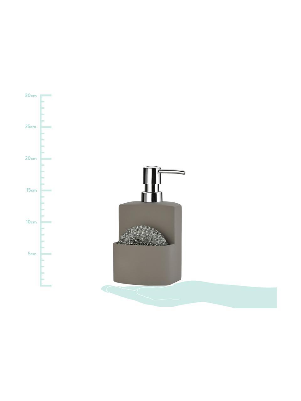 Dosatore di sapone Seeque, set di 2, Grigio, argentato, Larg. 11 x Alt. 19 cm