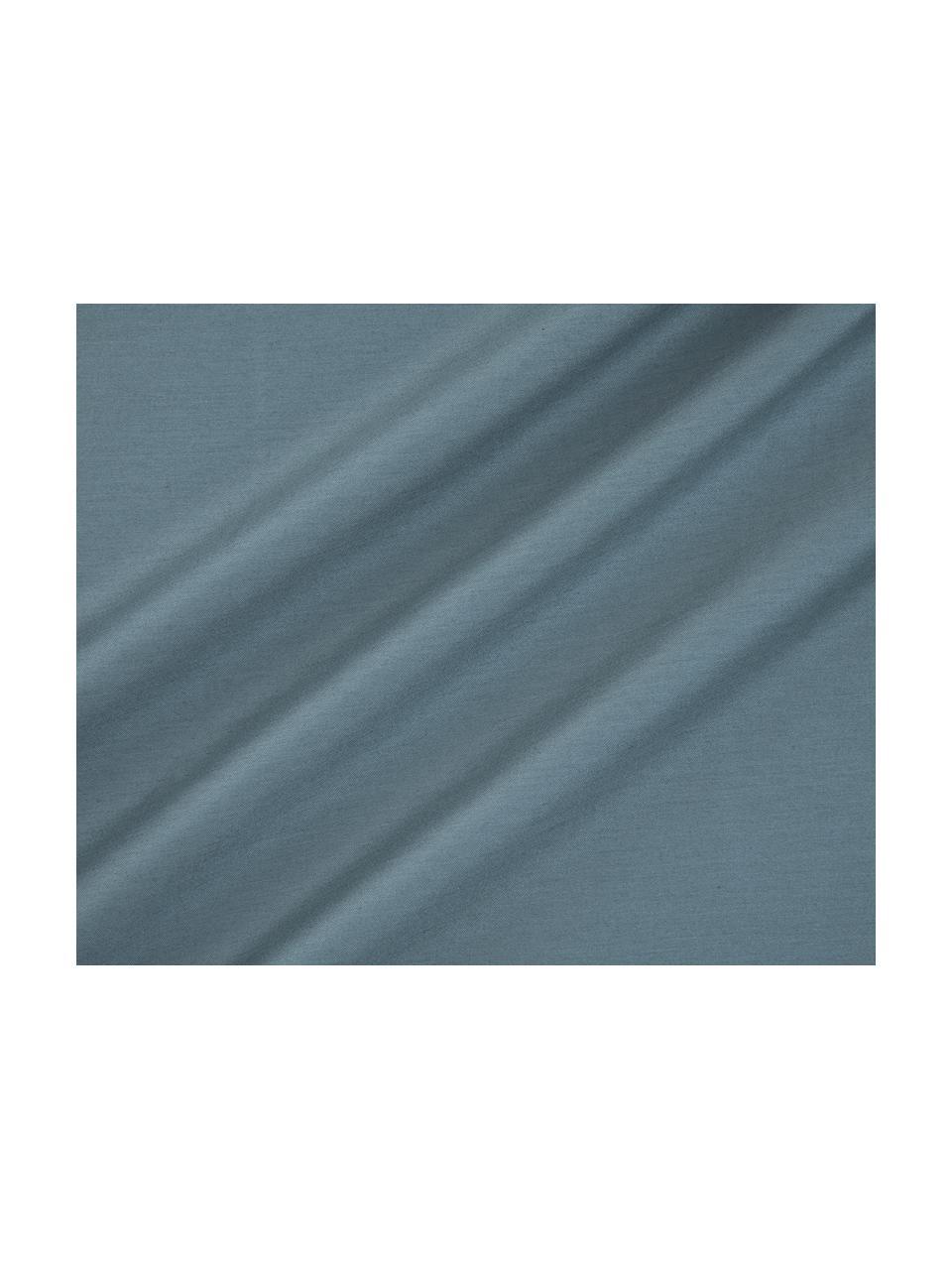 Pościel z satyny bawełnianej Flora, Przód: wielobarwny Tył: petrol, 240 x 220 cm