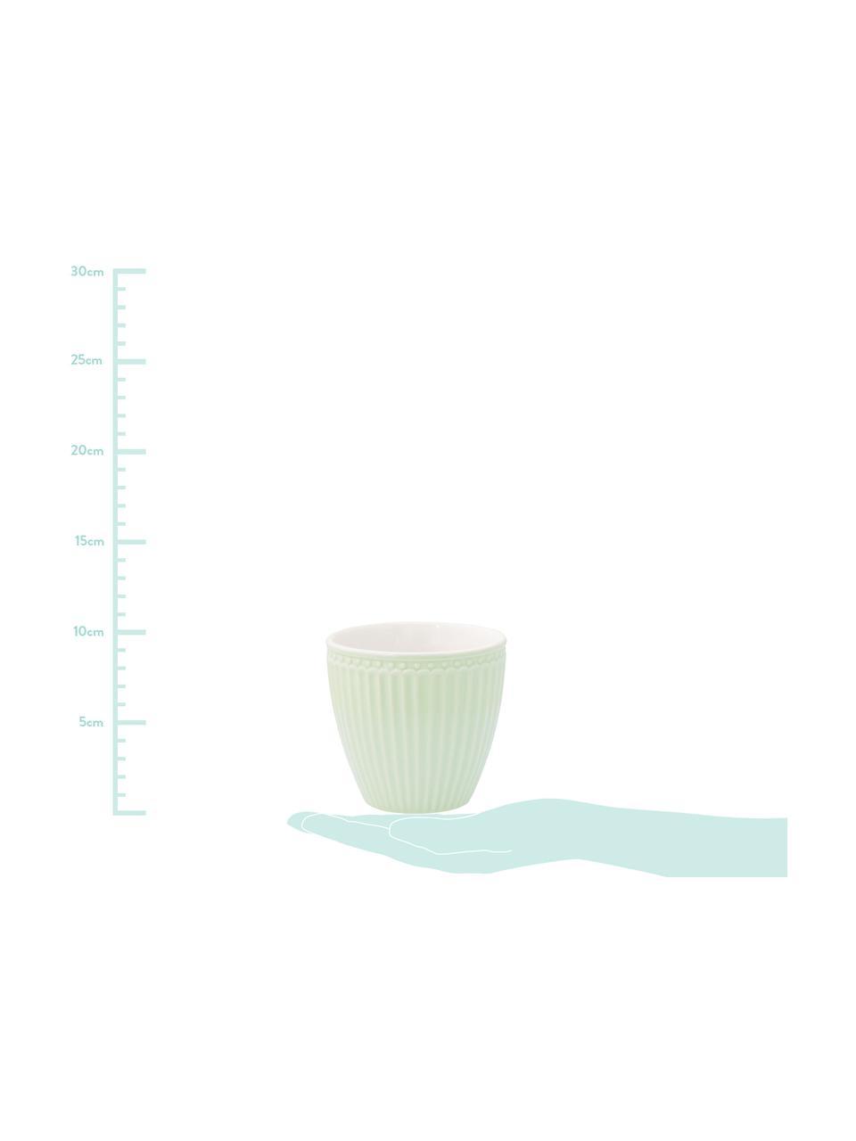 Ręcznie wykonany kubek Alice, 2 szt., Kamionka, Miętowozielony, Ø 10 x W 9 cm