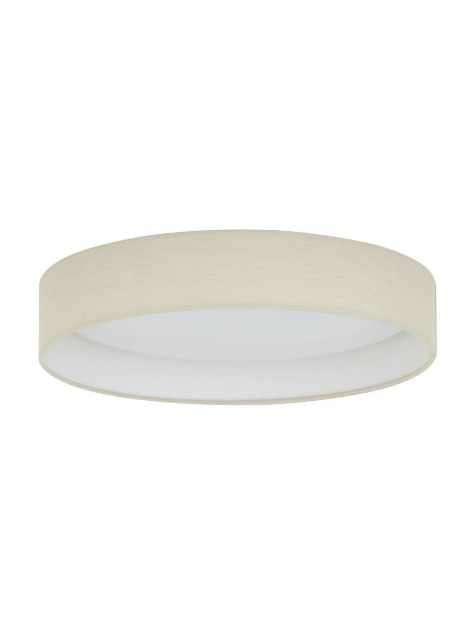 LED plafondlamp Helen, Frame: metaal, Diffuser: kunststof, Taupe, Ø 35 x H 7 cm
