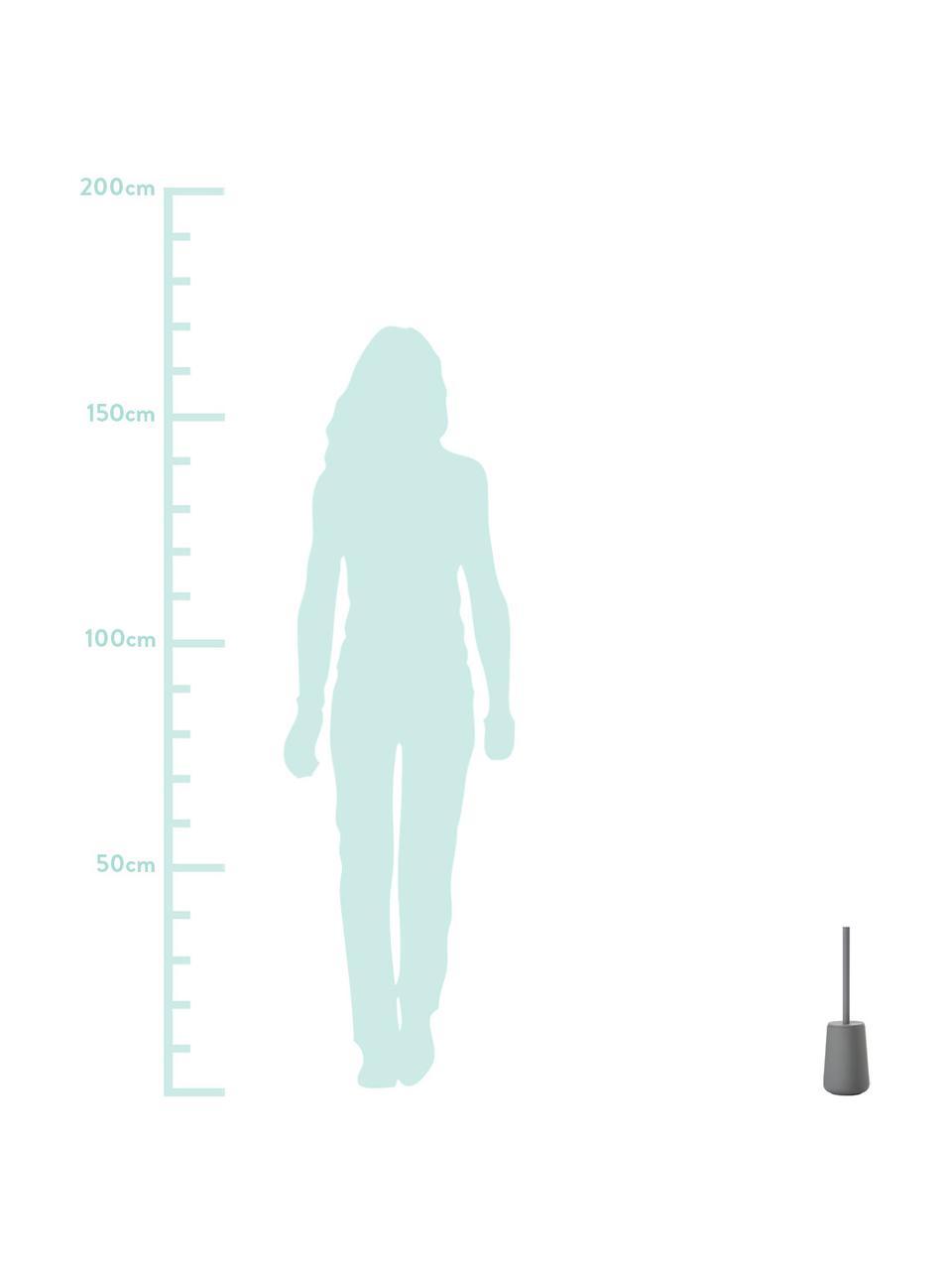 Toilettenbürste Nova One mit Porzellan-Behälter, Behälter: Porzellan, Griff: Edelstahl, matt lackiert, Grau, Ø 10 x H 43 cm