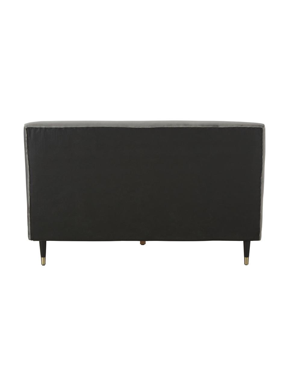 Letto imbottito in velluto grigio Nova, Rivestimento: 370 g/m² di velluto di po, Velluto grigio, 180 x 200 cm