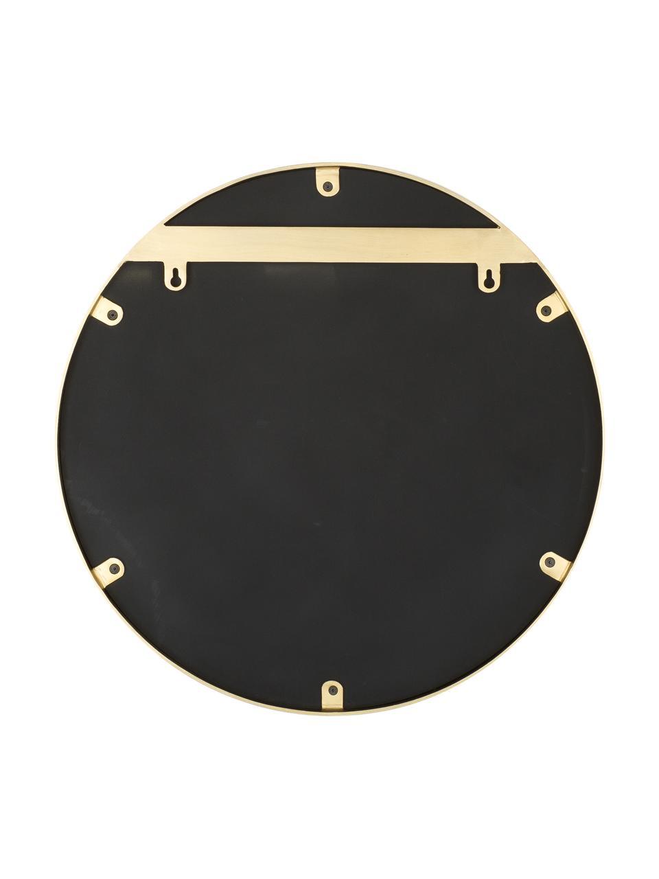 Espejo de pared redondo Ada, Espejo: cristal, Latón cepillado, Ø 120 cm