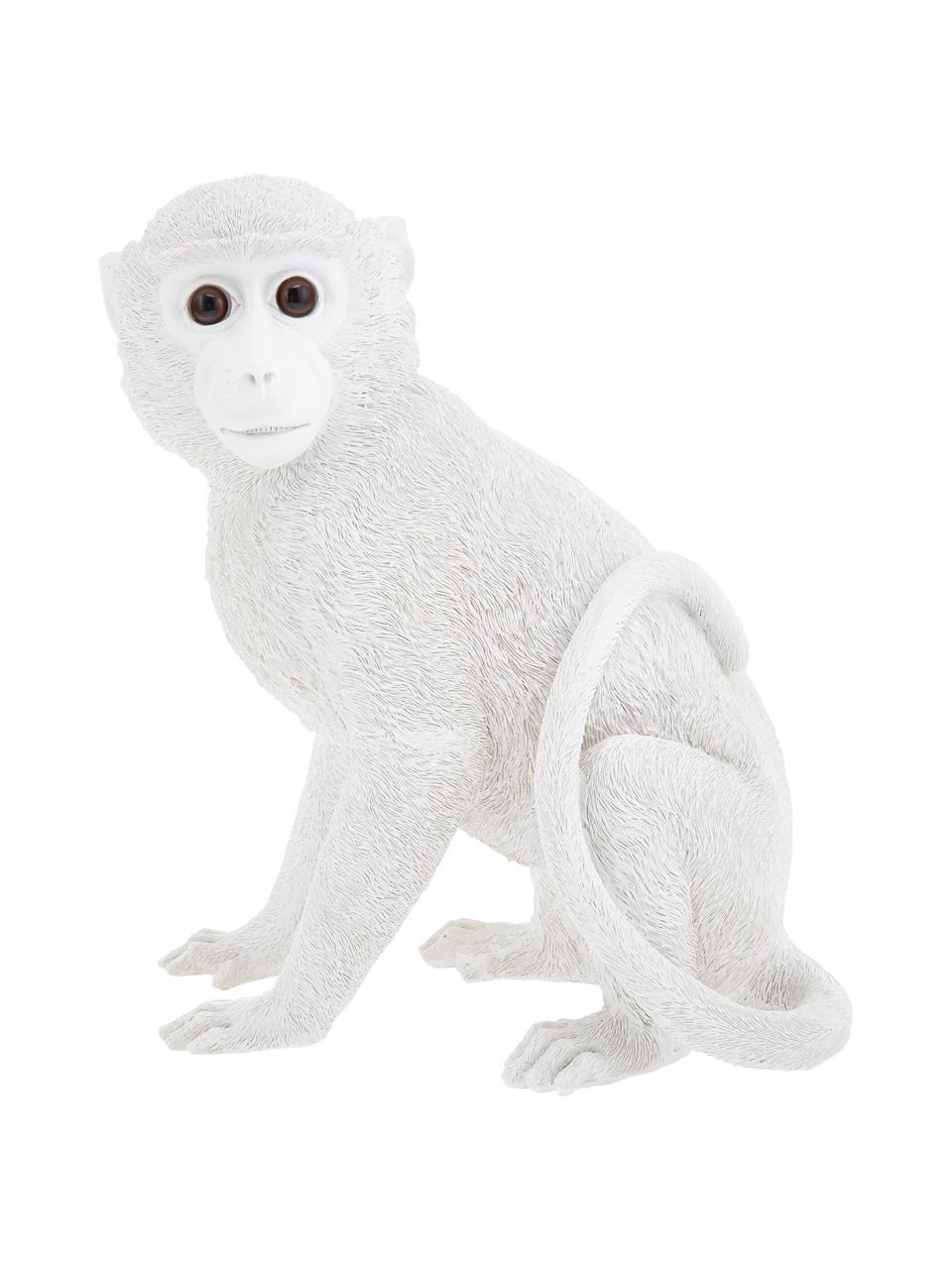 Spaarpot Monkey, Kunsthars, Wit, 25 x 30 cm