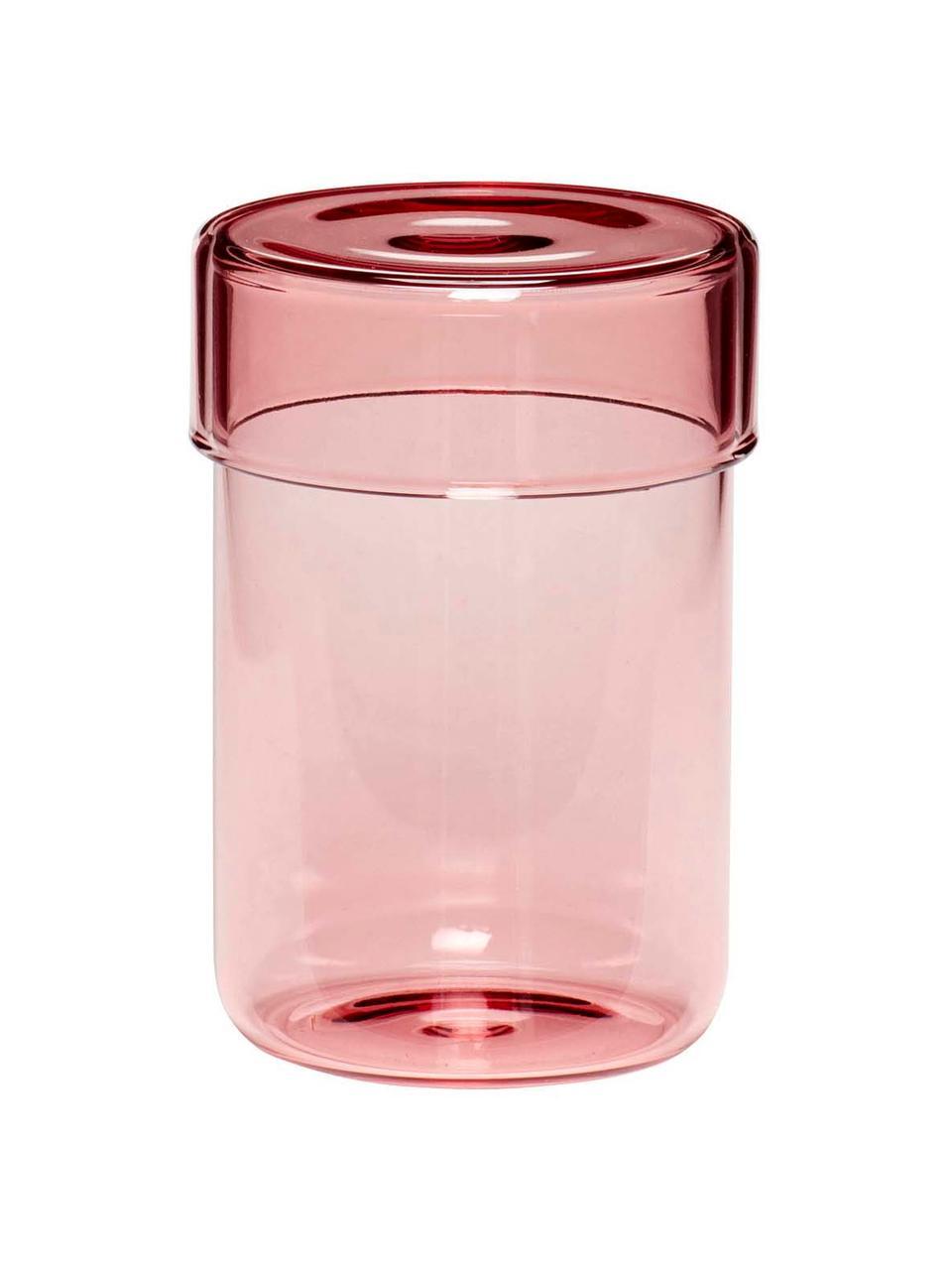 Opbergpottenset Transisto, 2-delig, Glas, Roze, Dozenset S