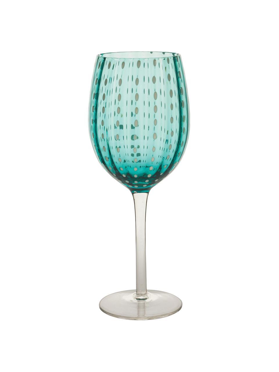 Set 6 bicchieri vino colorati Shiraz, Vetro, Multicolore, Ø 7 x Alt. 23 cm