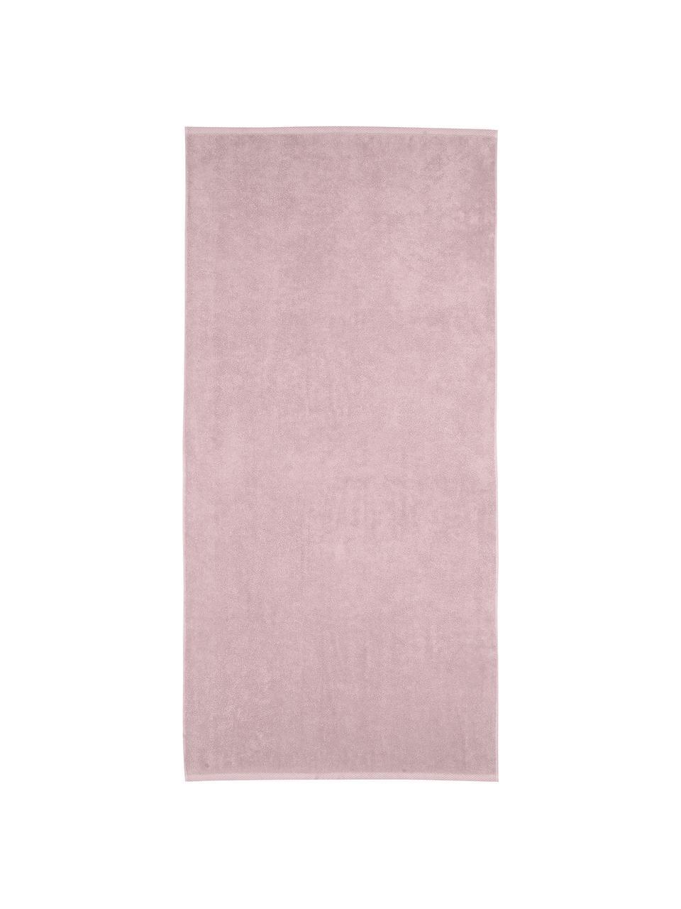 Einfarbiges Handtuch-Set Comfort, 3-tlg., Altrosa, Sondergrößen