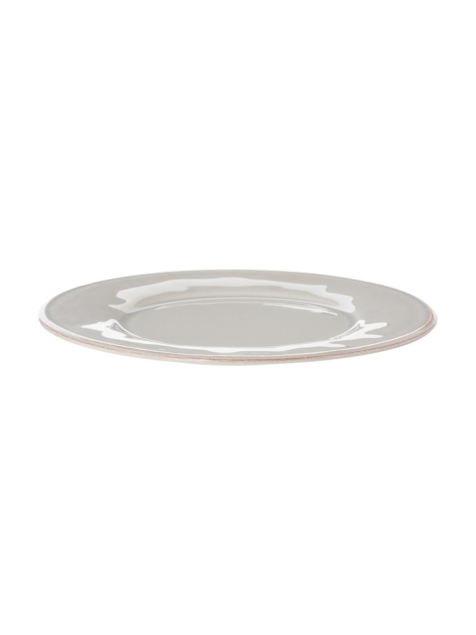 Piatto piano grigio chiaro Constance 2 pz, Terracotta, Grigio chiaro, Ø 29 cm