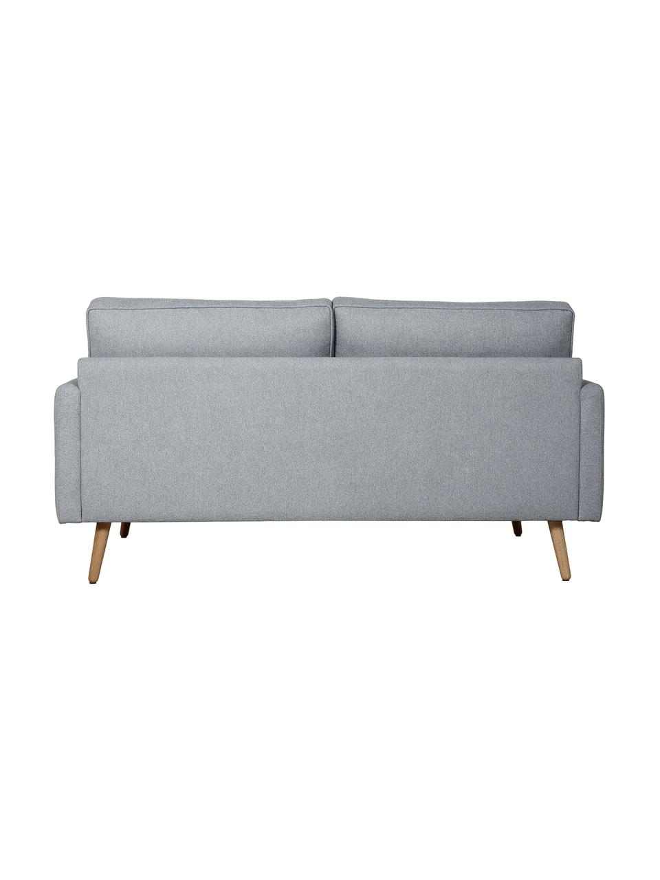 Sofa Saint (2-Sitzer) in Blaugrau mit Eichenholz-Füßen, Bezug: Polyester Der hochwertige, Gestell: Massives Kiefernholz, Spa, Webstoff Blaugrau, B 169 x T 93 cm