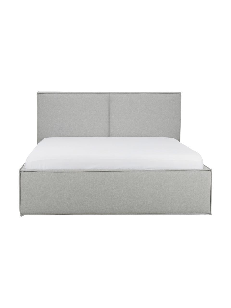 Gestoffeerd bed Dream met opbergruimte, Frame: massief grenenhout, Bekleding: polyester (structuurmater, Donkergrijs, 180 x 200 cm