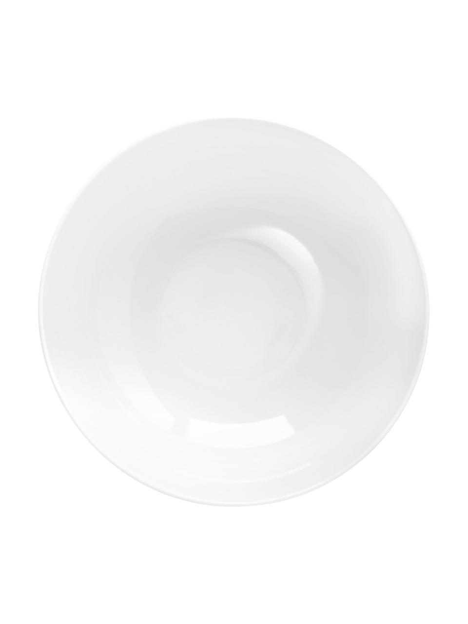 Salatschüssel Puro aus Porzellan, Ø 25 cm, Porzellan, Weiß, Ø 25 x H 10 cm