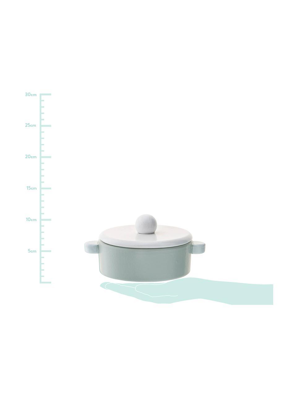Set de juguetes Cooking, 5pzas., Tablero de fibras de densidad media (MDF), madera de schima, Azul, Set de diferentes tamaños