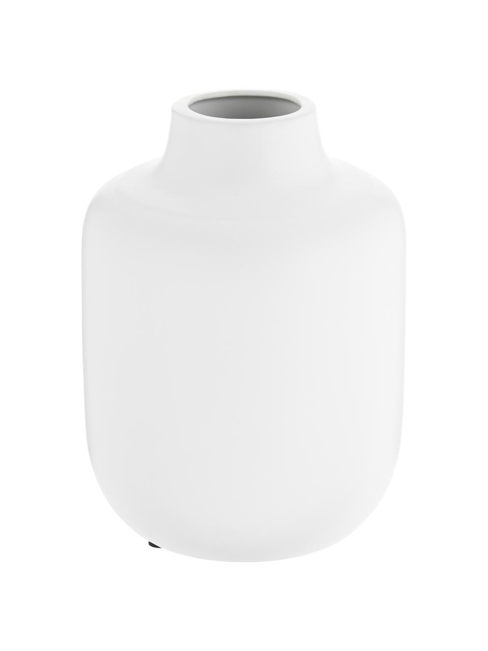 Vaso in porcellana Belle Blanc, Porcellana, Bianco, Ø 17 x Alt. 20 cm