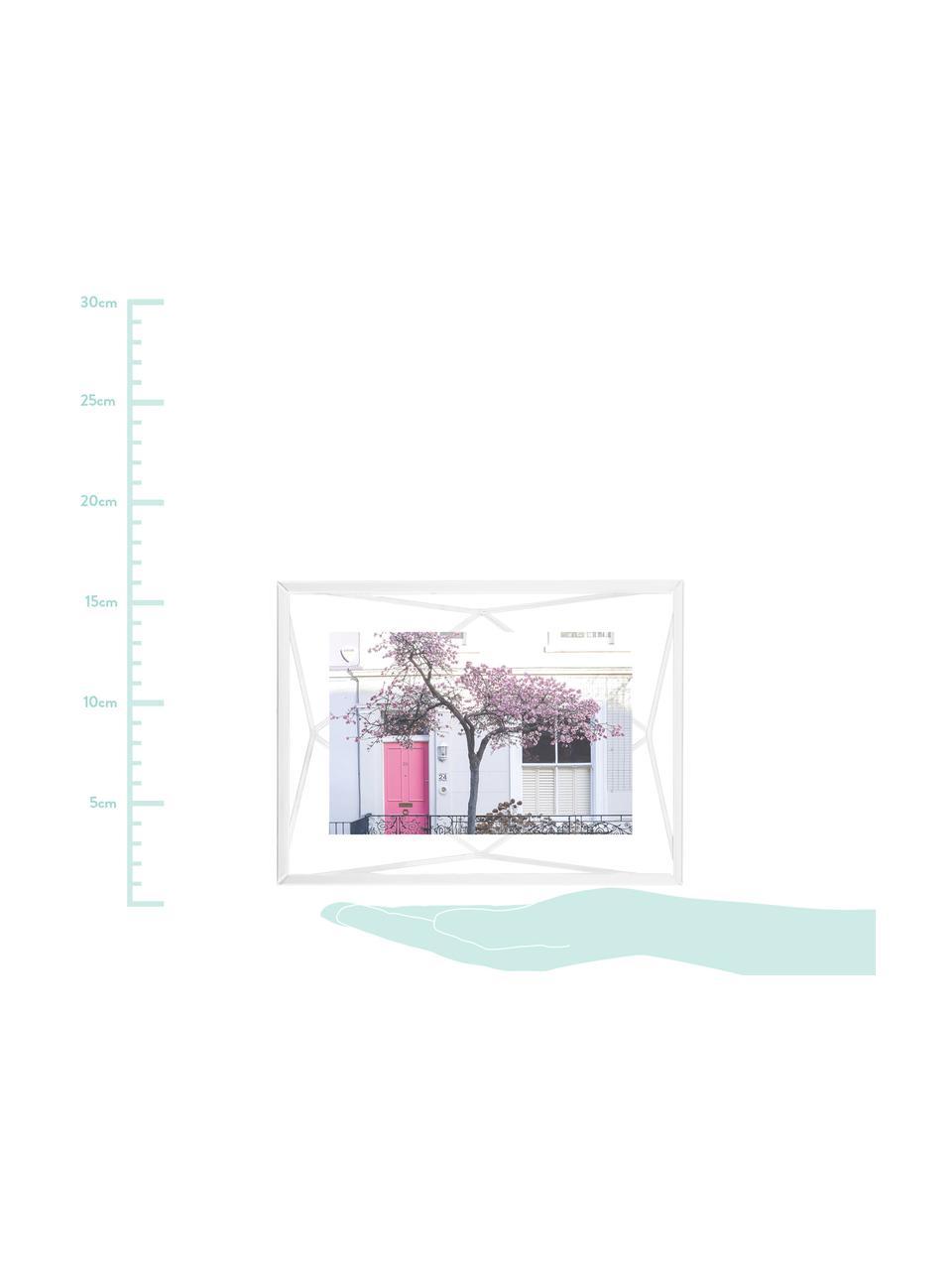 Portafoto da tavolo Prisma, Cornice: acciaio, Bianco, 10 x 15 cm